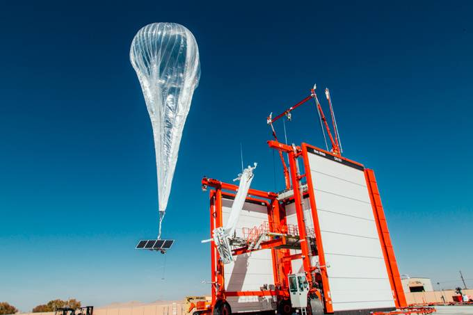 Google levará internet com balões